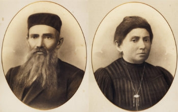 Naomi Bloch's great-grandparents, Shlomo and Esther-Temme Rosenberg, pictured here, led the family's exodus eastward after Russia expelled the Jews of Siauliai in 1915. (Courtesy Naomi Bloch)