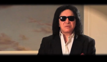 Gene Simmons speaking Hebrew at a recent video by the Jewish organization World-ORT.  (via YouTube)