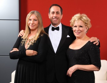 Barbra Streisand, left, Jerry Seinfeld and Bette Midler were among the stars who gathered for a gala celebrating the new National Museum of American Jewish History, Nov. 13, 2010. (Mike Coppola/Getty Images)