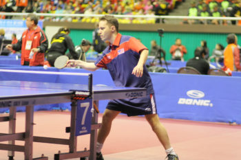 Israeli-born table tennis player Tahl Leibovitz is competing for the U.S. team in the 2012 Paralympic Games in London.  (Gaël Marziou)