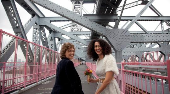 Tzlia Levy, Adi Lavy. Tzlia and Ady, lesbian marriage, gay wedding, israeli gay marriage, new york gay marriage, israeli lesbians