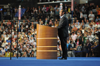 Antonio Villaraigosa, the mayor of Los Angeles and chairman of the Democratic National Convention in Charlotte, N.C., introducing the platform amendment that affirms Jerusalem as Israel's capital, Sept. 5, 2012. (Camden Lee via flickr.com/photos/demconvention)
