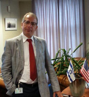 Wim Kortenoeve, a pro-Israeli Dutch lawmaker, in his office at the Dutch parliament in The Hague.  (Courtesy Wim Kortenoeve)