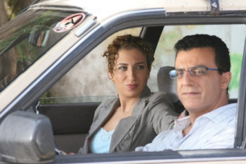 """Clara Khoury,  left,  and Norman Issa in """"Arab Labor,"""" a miniseries written by author Sayed Qashua that will be shown at the Other Israel Film Festival in New York City.  (Other Israel Film Festival)"""