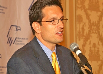 Eric Cantor (R-Va.), the only Jewish Republican in the U.S. House of Representatives, won unanimous election as minority whip. (RJC)