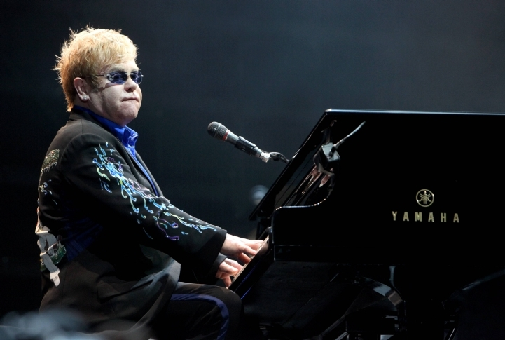 British singer Elton John, who performed in Ramat Gan, Israel on June 17, 2010, said nothing would stop him from coming to perform in Israel. (Flash90 / JTA)
