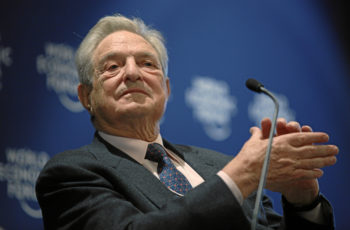 """George Soros, shown at the World Economic Forum in Switzerland in January 2010, """"never made any secret about his contributions to J Street,"""" his spokesman said. (Courtesy of World Economic Forum)"""