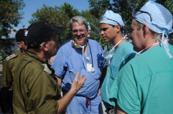 The IDF medical team in Haiti was joined by nine volunteers from Los Angeles on Jan. 18, 2010. (IDF)