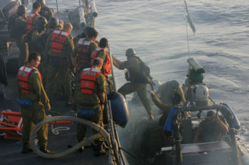 """The Obama administration said sea-bound aid to Gaza, like the flotilla intercepted by the Israeli Navy, """"is neither appropriate nor responsible."""" (Moti Milrod/Pool/Flash90)"""