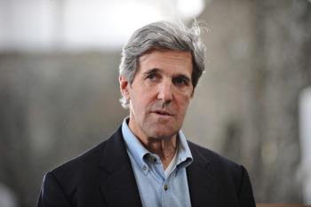 Sen. John Kerry, pictured here addressing troops in Afghanistan in 2011, was nominated for U.S. secretary of state on Dec. 21, 2012. (U.S. Embassy, Kabul, Afghanistan)