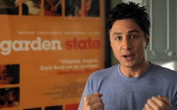 "Zach Braff urging people to donate money for his second ""Garden State"" film on Kickstarter. (Kickstarter)"