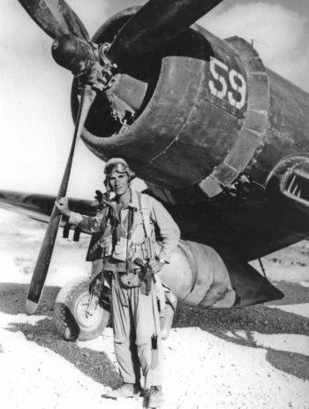Lou Lenart as an Israeli fighter pilot in 1948, when he helped gain independence for Israel and Tel Aviv.  (Tom Tugend)