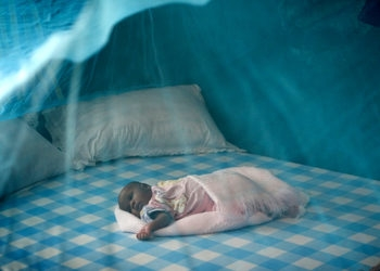 Malaria rates in some African nations have been reduced significantly with the help of bed nets. (Mike Dubose / UMC)