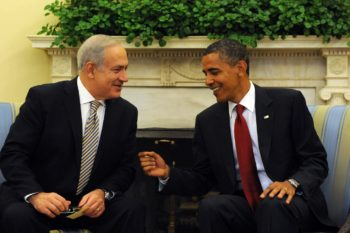 President Obama and Israeli Prime Minister Benjamin Netanyahu meet in the Oval Office, July 6, 2010.  (Amos BenGershom / GPO)