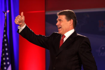 Prominent Jewish Republicans say Texas Gov. Rick Perry, shown speaking at the Republican Leadership Conference in New Orleans in June 2011, will have little trouble courting GOP Jews who are hungry for a presidential victory in 2012.  (Gage Skidmore)