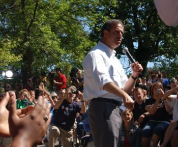 The political career of Sen. Russ Feingold, shown on the campaign trail for Barack Obama in Eau Claire, Wis., in August 2008, was marked by a fierce independence.    (Phil Freedman)