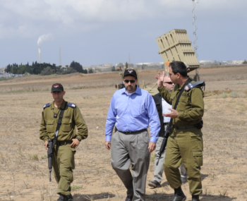 Dan Shapiro, the U.S. ambassador to Israel, reviews Israel's short-range anti-missile program Iron Dome, Aug. 9, 2011. Shapiro says U.S.-Israel defense programs like Iron Dome have brought the two nations closer.  (U.S. Embassy in Tel Aviv)