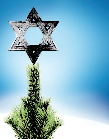 The Hanukkah Tree Topper has sold in the thousands, its Jewish creator says, and now has several competitors.  (One Life Products)
