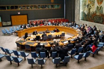 The United Nations Security Council, shown in session on Feb. 18, 2010, has passed sanctions legislation three times against Iran but has failed to curb the Islamic Republic's nuclear ambitions. (UN Photo / Eskinder Debebe)