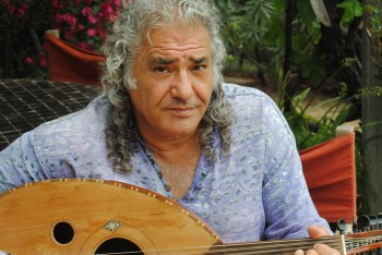 Hani Naser began playing the oud at 7 and still has the same nearly 70-year-old instrument. (Rebecca Spence)