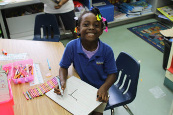 A student at the Ben Gamla Hebrew charter school in Plantation, Fla., which includes the only Hebrew charter high school program in the country. (Uriel Heilman)