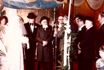 Moshe Zarchi, shown during his wedding in the United States, was the Israeli classmate whom Zvi Halevy had hoped to find. (Courtesy Malka Teichman)