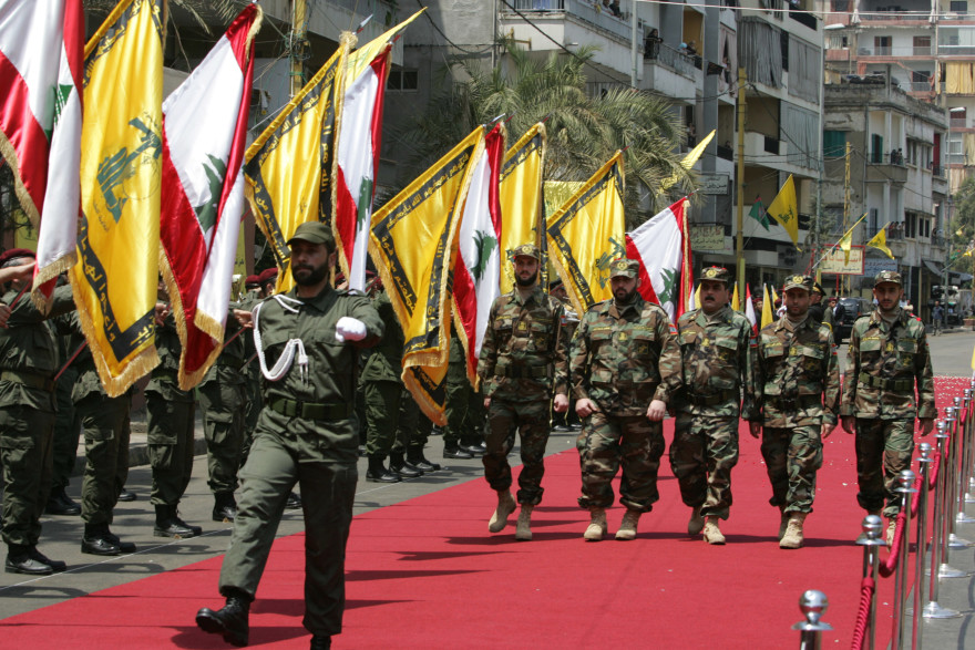 Released Hezbollah prisoners marching in a parade in their honor in Beirut, 2008. (Salah Malkawi/Getty)