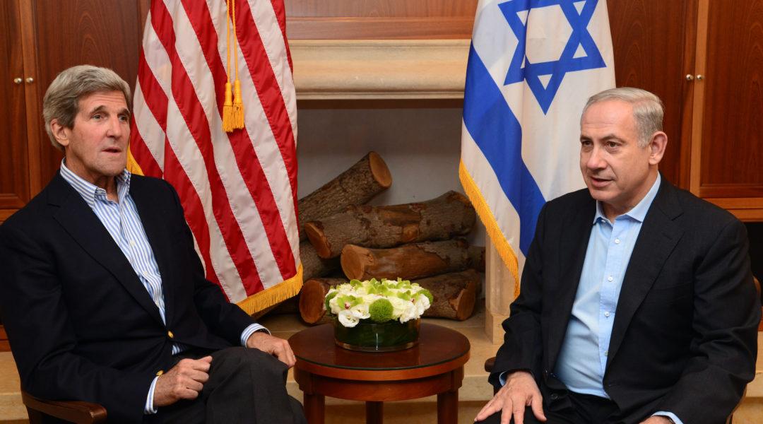 John Kerry, Benjamin Netanyahu, John Kerry, Benjamin Netanyahu, John Kerry and Benjamin Netanyahu,