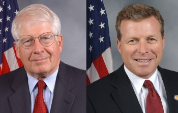 Reps. David Price, left, and Charlie Dent intitiated the congressional letter urging President Obama to test the incoming Iranian president's plea for engagement with the United States. (U.S. House of Representatives)