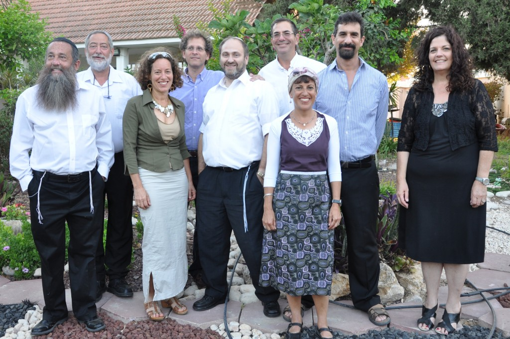 JTA PHOTO: Seeking Kin: From Queens to kibbutz, a 40-year journey Nine members of the Yeshiva of Central Queens' Class of 1973 reuniting on Kibbutz Ein Hanatziv in Israel, July 5, 2013. They are, from left, Sammy Klein, Yerachmiel Elyashiv, Aviva Gewirtz Lavi, Elliot Cohen, Shaul Sladowsky, host Howie Perlman, Rivki Denberg Bar-Lev, Joel Greenwald and Frema Kuper. (Courtesy Howie Perlman)