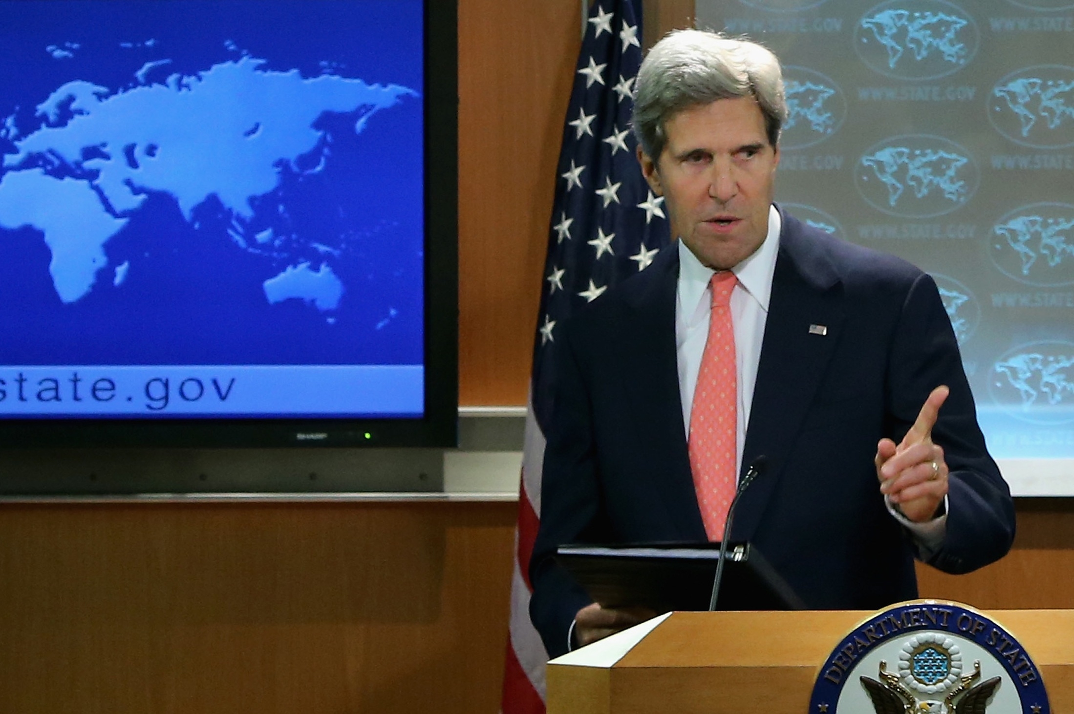 John Kerry Makes Statement To Press On Situation In Syria
