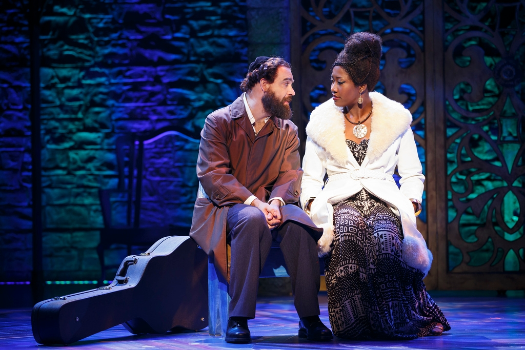 "Eric Anderson and Amber Iman as Shlomo Carlebach and Nina Simpne in the new Broadway musical ""Soul Doctor"" about the rabbi's life.  (Press)"
