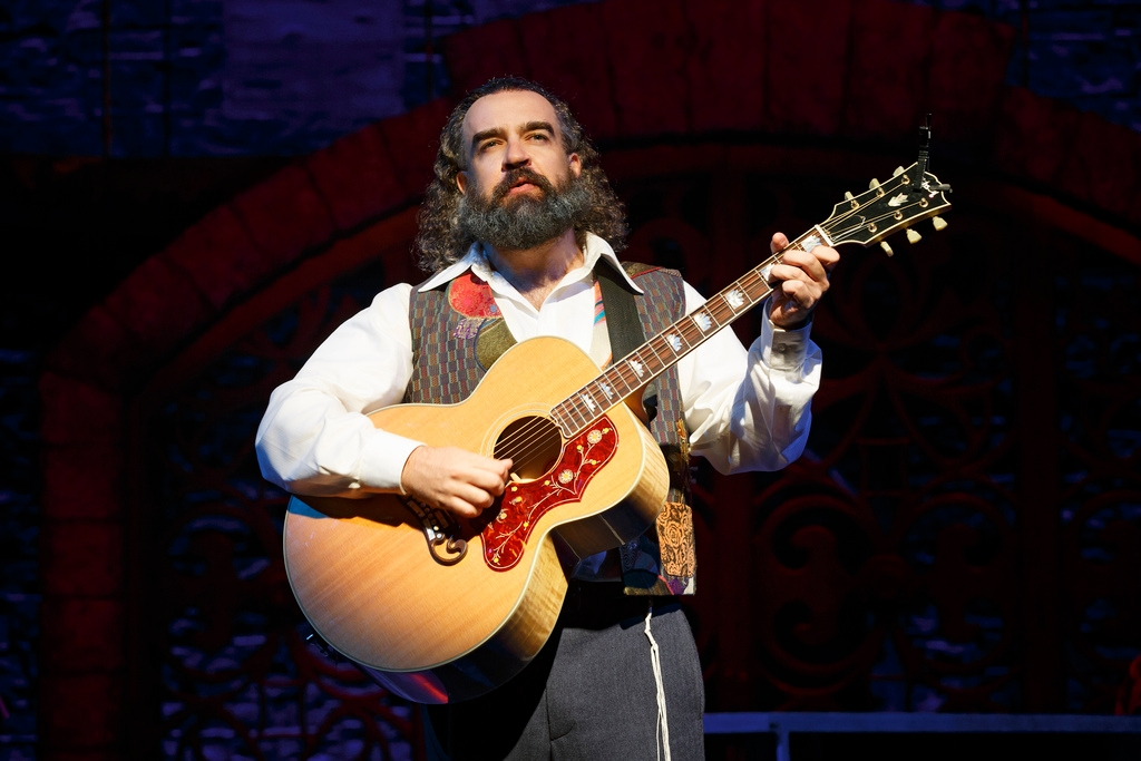 "Eric Anderson portrays Shlomo Carlebach in the new Broadway musical ""Soul Doctor"" about the rabbi's life.  (Press)"
