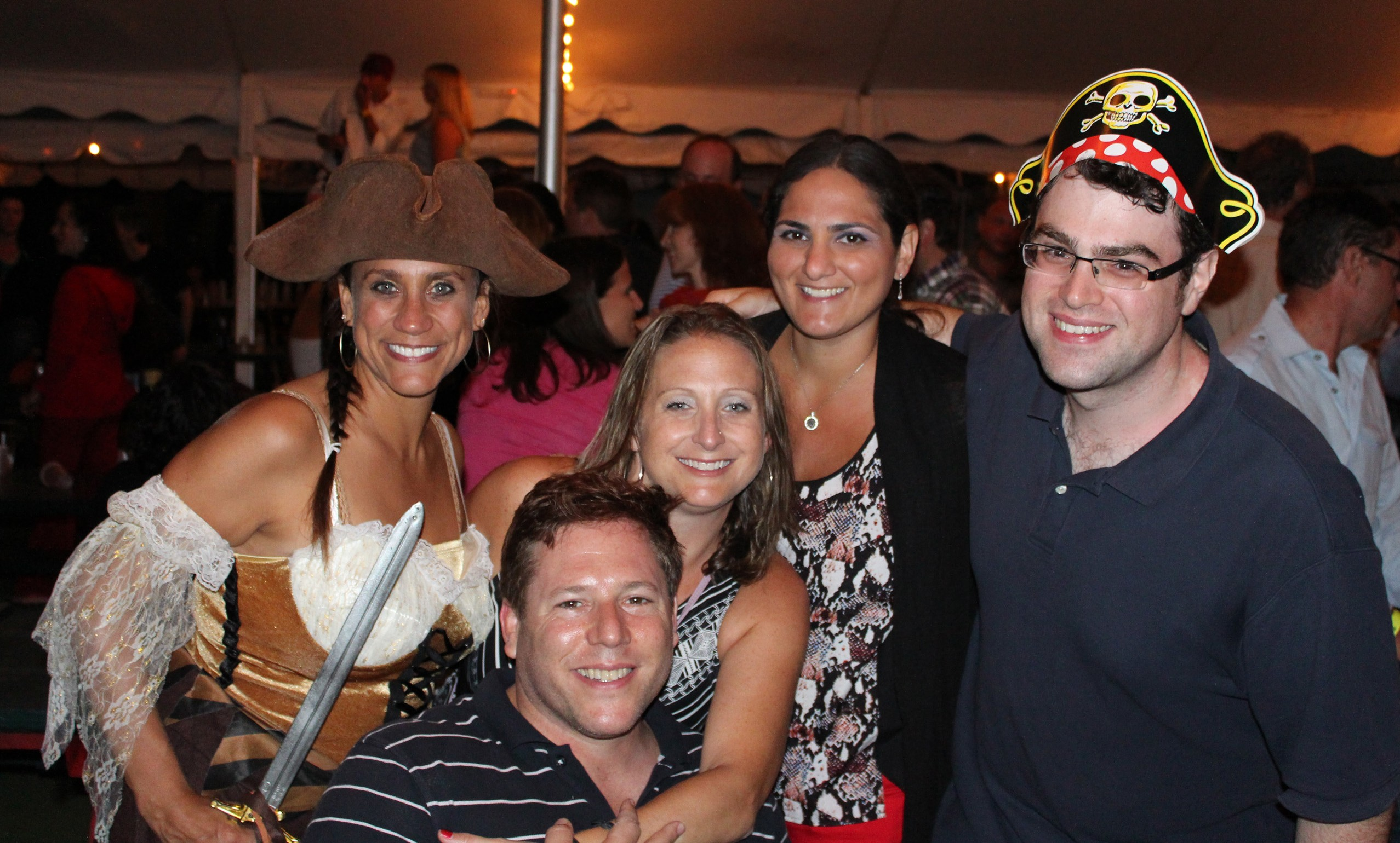 Dinner Parties For Singles Part - 20: JTAu0027s Josh Lipowsky, Right, Is Among The Jewish Singles Enjoying A  Pirate-themed