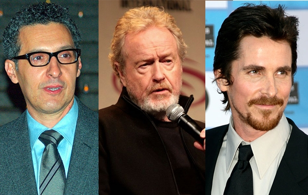 John Torturro, Ridley Scott and Christian Bale. (Creative Commons)