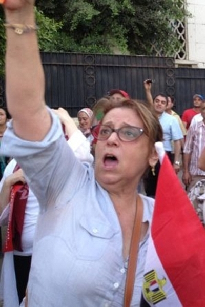 """Magda Haroun, president of the Jewish community in Egypt, says she is """"very confident of the future"""" in her country and vows to """"never, never, never"""" leave. (Bassatine News)"""