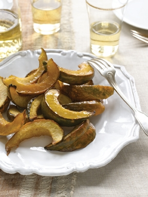 "Acorn Squash Sweet-and-Sour is a flavorful accompaniment to poultry and satisfies a need for sweet and sour dishes on Sukkot. (""Helen Nash's New Kosher Cuisine"")"