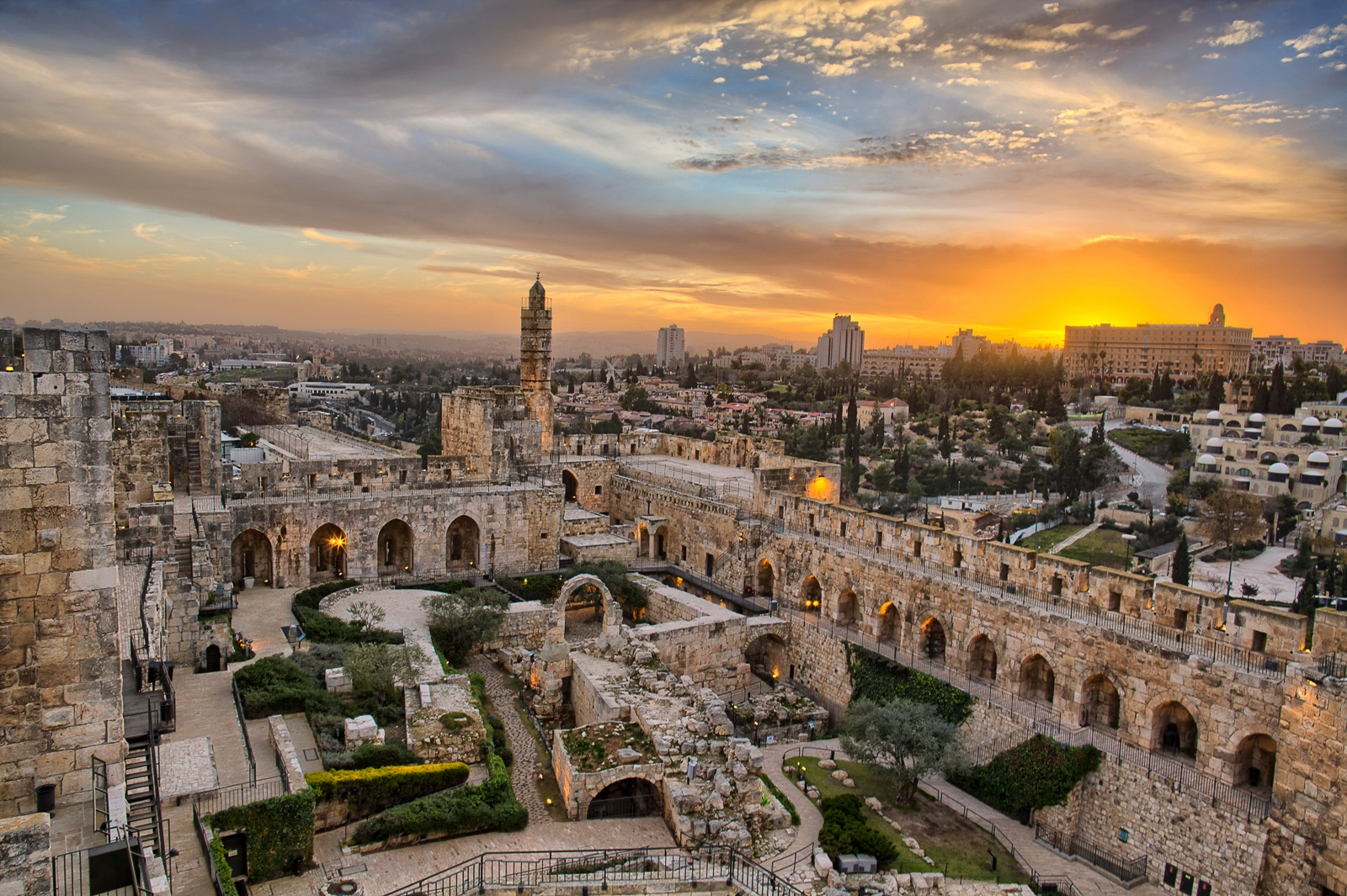 "Jerusalem's Tower of David Museum in a still from the IMAX film ""Jerusalem."" (Dustin Farrell)"