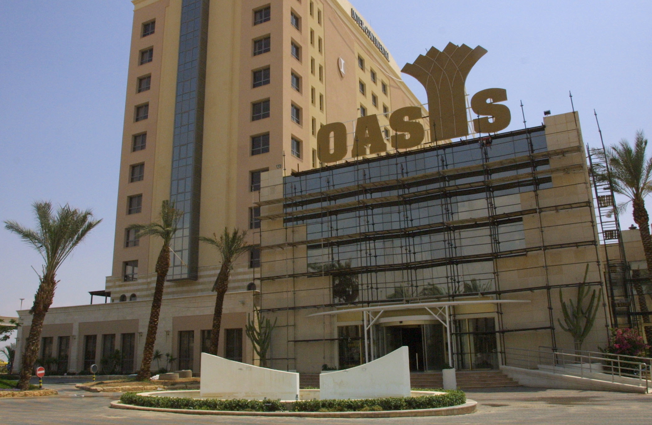 Once a symbol of the promise of Israeli-Palestinian peace, the Oasis Casino in Jericho has been shuttered for 13 years. (David Silverman/Newsmakers)