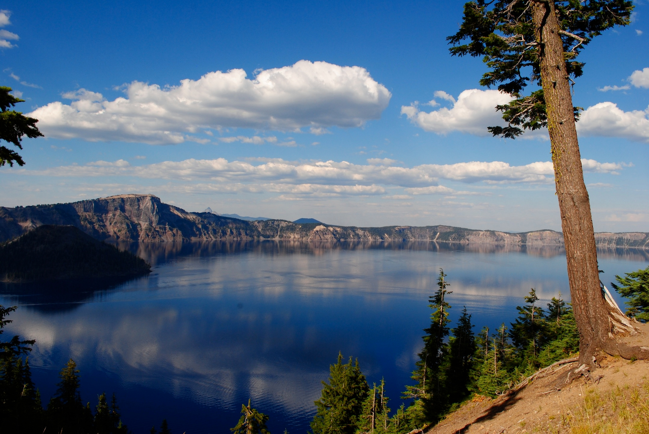 Crater Lake, located a two-hour drive north from Ashland, is famous for its crystal clear waters. (Rebecca Spence)