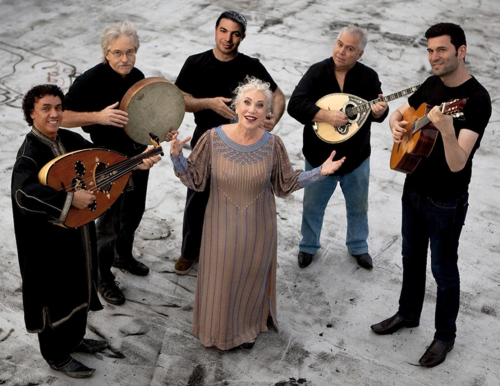 Ljuba Davis presides over an ensemble of diverse musicians performing music in Ladino.