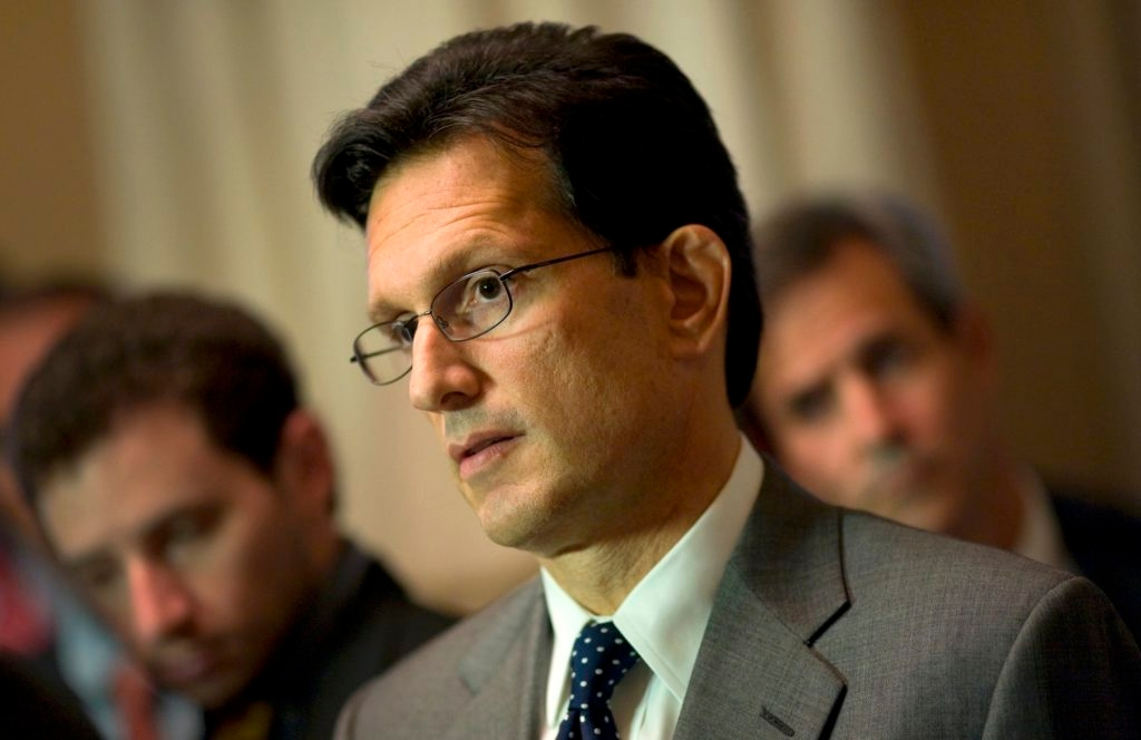 House Majority Leader Eric Cantor (R-Va.) at a news conference in the Capitol, Oct. 5, 2013. (Chris Maddaloni/Getty Images)