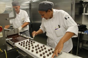 The Fontainebleau, the largest hotel in Miami Beach, employs its own chocolatier. (Uriel Heilman)