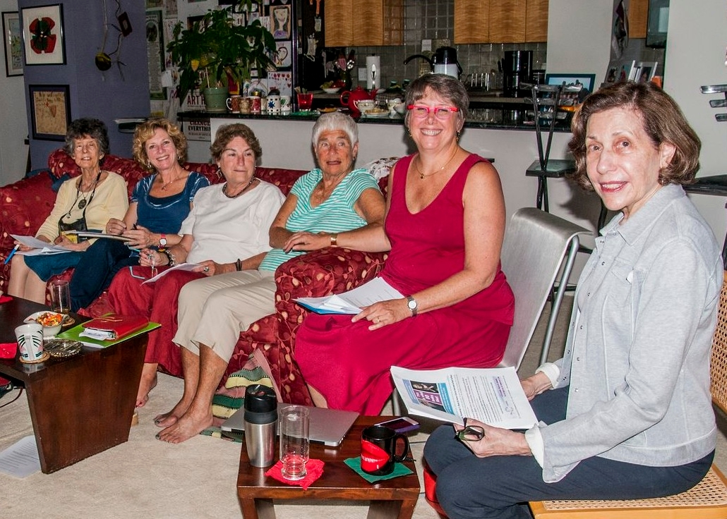 Rabbi Dayle Friedman, second from right, leads a meeting of her Wisdom Circle, a group that aims to help seniors navigate the difficulties of retirement.