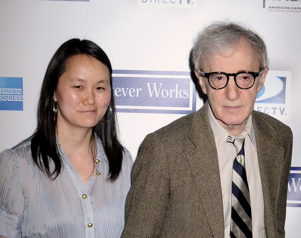 "Soon-Yi Previn and Woody Allen at the Tribeca Film Festival ""Whatever Works"" premiere in New York. (Janet Mayer /PR Photos)"