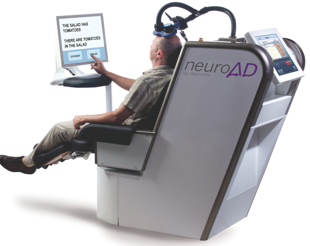 The Israeli company Neuronix uses electromagnetic pulses to treat Alzheimer's patients. (Neuronix)