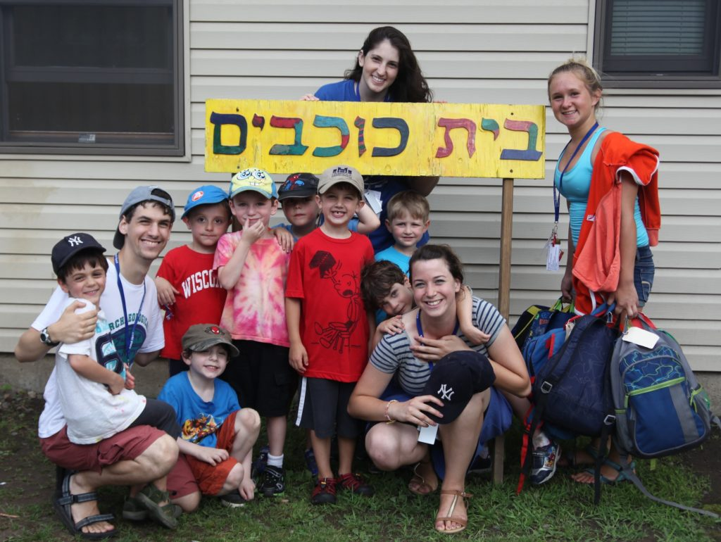 Campers at Ramah Day Camp in Nyack, N.Y., participating in a pilot Hebrew immersion program. (Ramah Day Camp)
