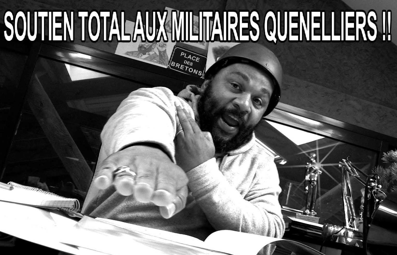 French comedian Dieudonne demonstrating the quenelle, a vaguely Nazi-like gesture whose popularity has soared in France. (YouTube)
