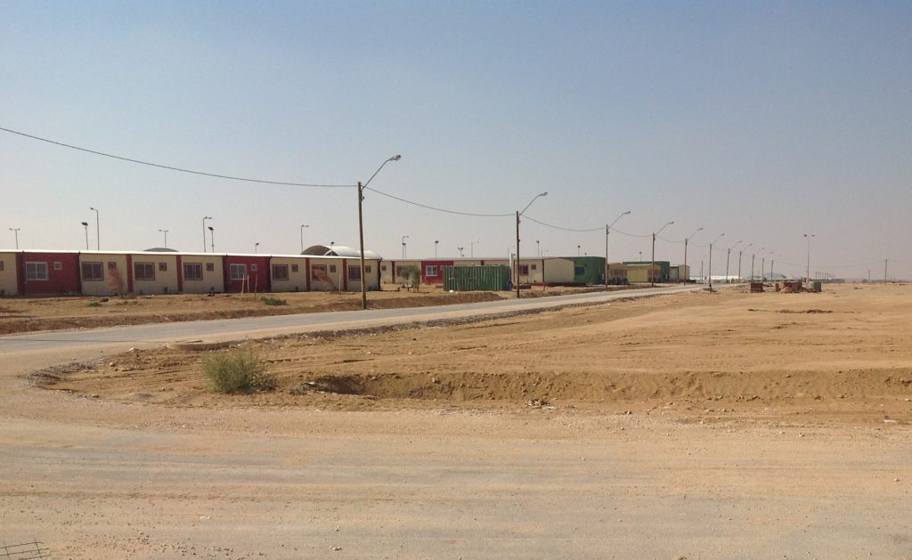"A new facility built along the Egyptian-Israeli border is slated to begin operations this month as an ""open residence facility"" for some 3,300 African migrants. (Ben Sales)"