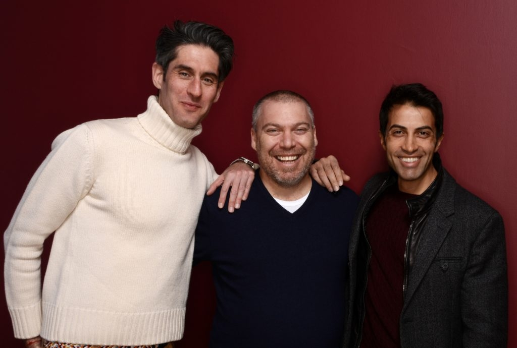 "Mosab Hassan Yousef, right, is the subject of ""The Green Prince"" by filmmaker Nadav Schirman, left, a documentary about Yosef's work spying for Israel and his friendship with his Israeli handler Gonen ben Itzhak, center. (Larry Busacca/Getty Images)"